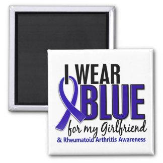I Wear Blue Girlfriend 10 Rheumatoid Arthritis RA Square Magnet