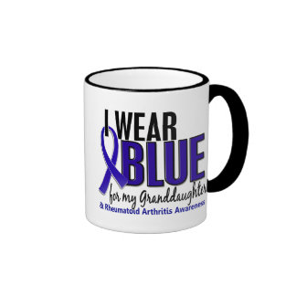 I Wear Blue Granddaughter 10 Rheumatoid Arthritis Mug