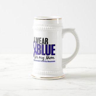 I Wear Blue Mom Rheumatoid Arthritis RA Beer Steins