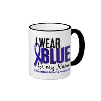 I Wear Blue Nana Rheumatoid Arthritis RA Mugs