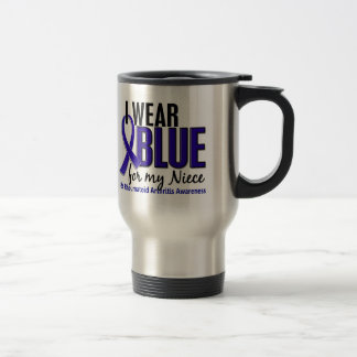 I Wear Blue Niece Rheumatoid Arthritis RA Stainless Steel Travel Mug