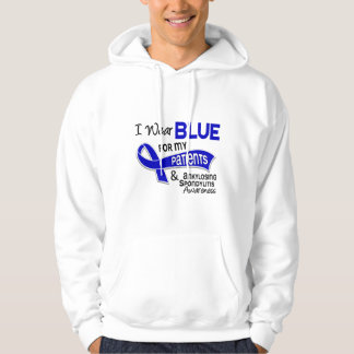 I Wear Blue Patients 42 Ankylosing Spondylitis Hooded Pullovers