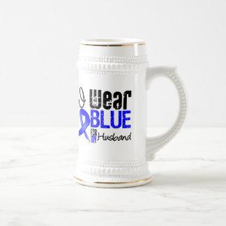 I Wear Blue Ribbon For My Husband - Colon Cancer Coffee Mugs