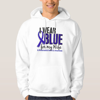 I Wear Blue Wife 10 Rheumatoid Arthritis RA Hoodie