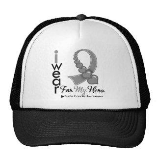 I Wear Brain Cancer Ribbon For My Hero Cap
