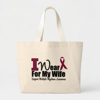 I Wear Burgundy Ribbon For My Wife Jumbo Tote Bag