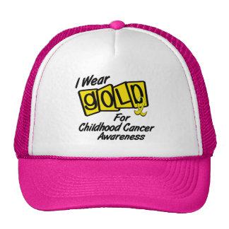 I Wear Gold For CHILDHOOD CANCER AWARENESS 8 Trucker Hat