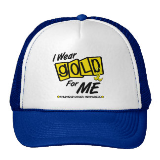 I Wear Gold For ME 8 Cap