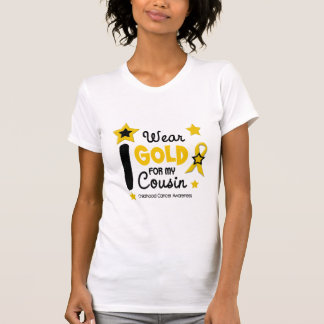 I Wear Gold For My Cousin 12 STAR VERSION Tshirts