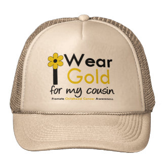 I Wear Gold For My Cousin (Flower) Hat