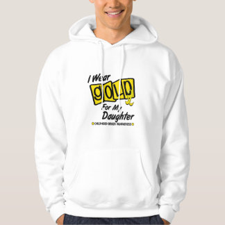 I Wear Gold For My DAUGHTER 8 Hoodie
