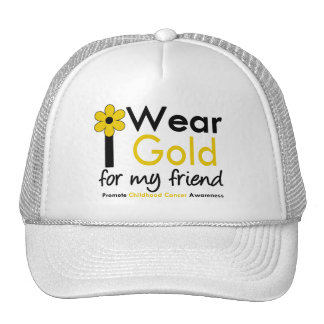 I Wear Gold For My Friend Mesh Hat