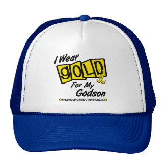 I Wear Gold For My GODSON 8 Hats