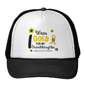 I Wear Gold For My Granddaughter 12 FLOWER VERSION Mesh Hat
