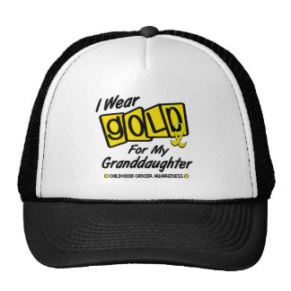 I Wear Gold For My GRANDDAUGHTER 8 Hats