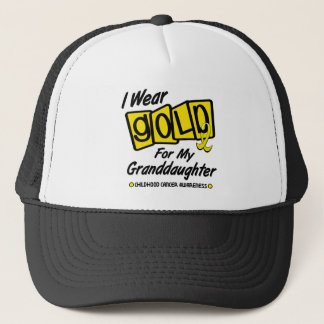 I Wear Gold For My GRANDDAUGHTER 8 Trucker Hat