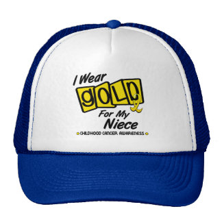 I Wear Gold For My NIECE 8 Cap