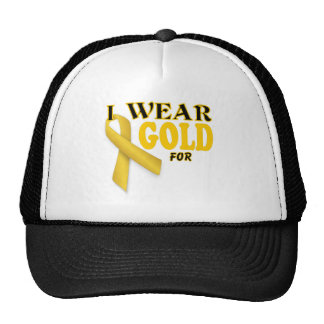 I wear gold for template cap