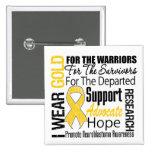 I Wear Gold Ribbon Collage Tribute Neuroblastoma 15 Cm Square Badge