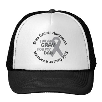 I Wear Gray For My Dad Support Brain Cancer Cap