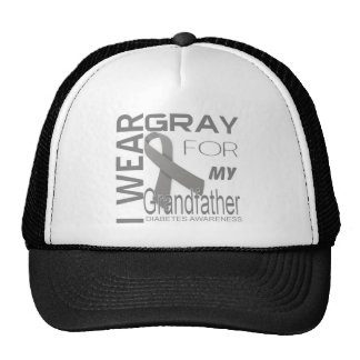 i wear gray for my grandfather Diabetes Awareness Cap