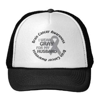 I Wear Gray For My Husband Brain Cancer Awarenes Cap