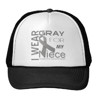 I wear gray for my Niece Diabetes Awareness Appare Cap