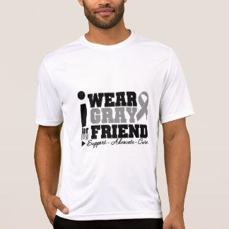 I Wear Gray Ribbon For My Friend Shirt