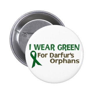 I Wear Green For DARFUR'S ORPHANS 6 Cm Round Badge