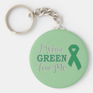 I Wear Green For Me (Green Awareness Ribbon) Key Ring