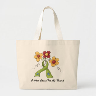 I Wear Green For My Friend Canvas Bags