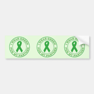 I Wear Green For My Partner Bumper Sticker