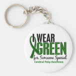 I Wear Green For Someone Special10 Cerebral Palsy Basic Round Button Key Ring