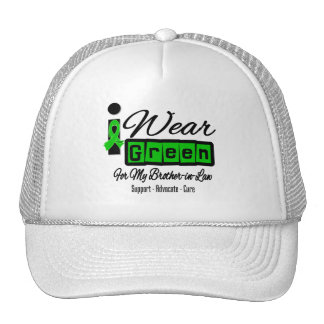 I Wear Green Ribbon (Retro) - Brother-in-Law Mesh Hats