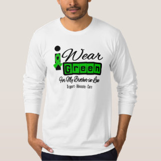 I Wear Green Ribbon (Retro) - Brother-in-Law Tee Shirt