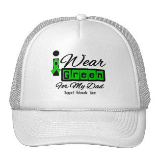 I Wear Green Ribbon (Retro) - Dad Hats