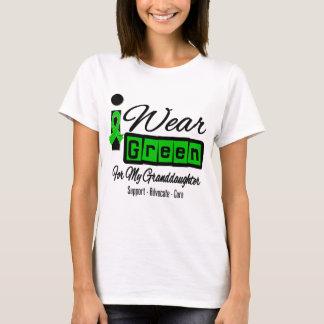 I Wear Green Ribbon (Retro) - Granddaughter T-Shirt