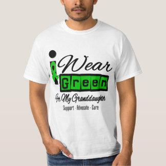 I Wear Green Ribbon (Retro) - Granddaughter Tshirt