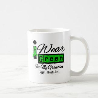 I Wear Green Ribbon (Retro) - Grandson Coffee Mug