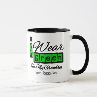 I Wear Green Ribbon (Retro) - Grandson Mug