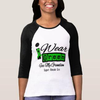 I Wear Green Ribbon (Retro) - Grandson T Shirt