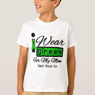 I Wear Green Ribbon (Retro) - Mom T-Shirt