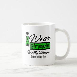 I Wear Green Ribbon (Retro) - Mommy Mugs