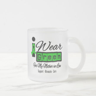 I Wear Green Ribbon (Retro) - Mother-in-Law Mugs