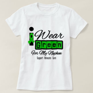 I Wear Green Ribbon (Retro) - Nephew T Shirts