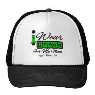 I Wear Green Ribbon (Retro) - Niece Mesh Hat