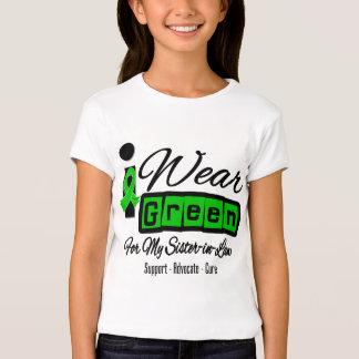 I Wear Green Ribbon (Retro) - Sister-in-Law Tshirts