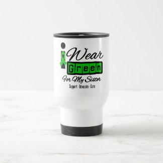 I Wear Green Ribbon (Retro) - Sister Mugs