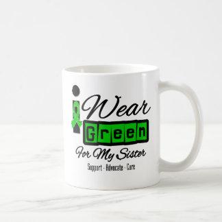 I Wear Green Ribbon (Retro) - Sister Coffee Mugs