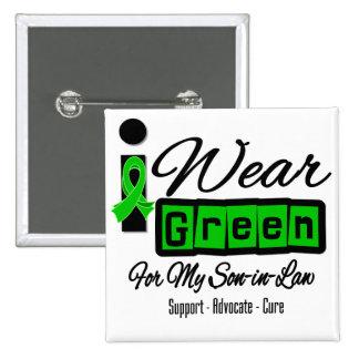 I Wear Green Ribbon (Retro) - Son-in-Law 15 Cm Square Badge
